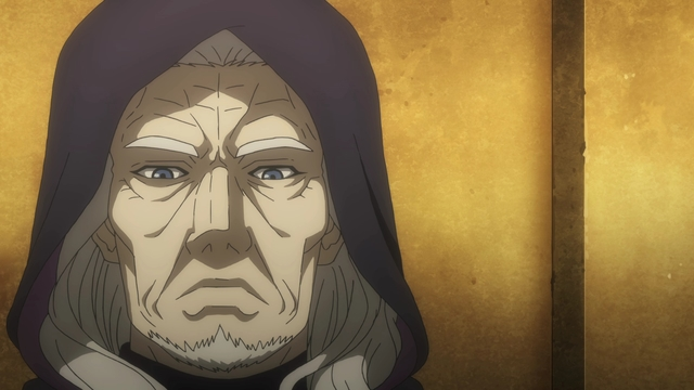 The god Ouranos from the anime series DanMachi III