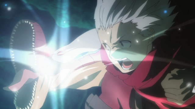 Bell punching Lyd from the anime series DanMachi III