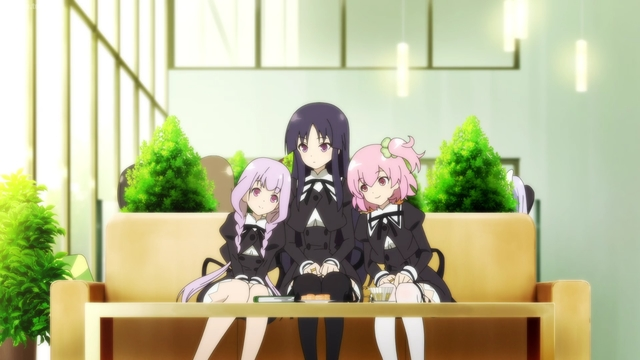 Yuri, Yuyu, and Riri from the anime Assault Lily: Bouquet
