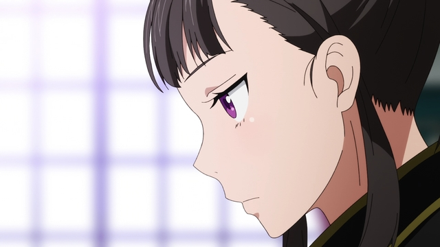 Maki stationed as a military secretary from the anime series Fire Force Season 2