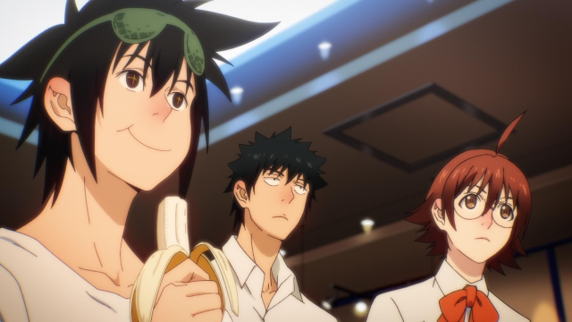 Mori, Daewi, and Mira from the anime series The God of High School