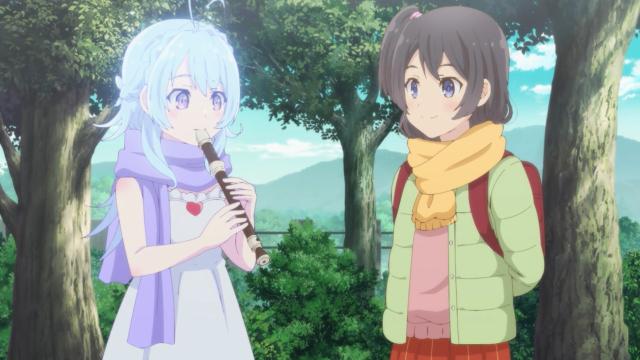 Yashiro and Shimamura's sister from the anime series Adachi and Shimamura