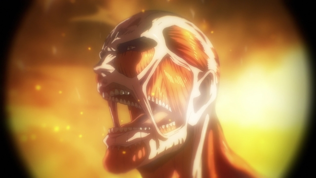The Colossal Titan from the anime series Attack on Titan: The Final Season