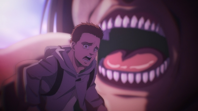 Marcel being eaten by Ymir from the anime series Attack on Titan: The Final Season
