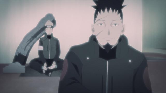 Shikaku Nara and Inoichi Yamanaka from the anime series Boruto: Naruto Next Generations
