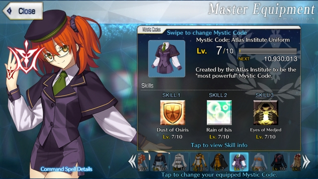 The Atlas Institute Uniform mystic code from the mobile game Fate/Grand Order