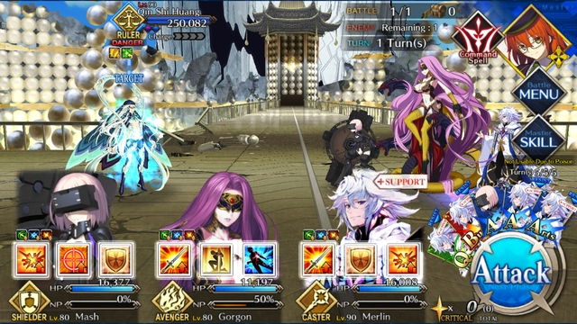 The fight against Qin Shi Huang from the game Fate/Grand Order: Lostbelt 3 - SIN