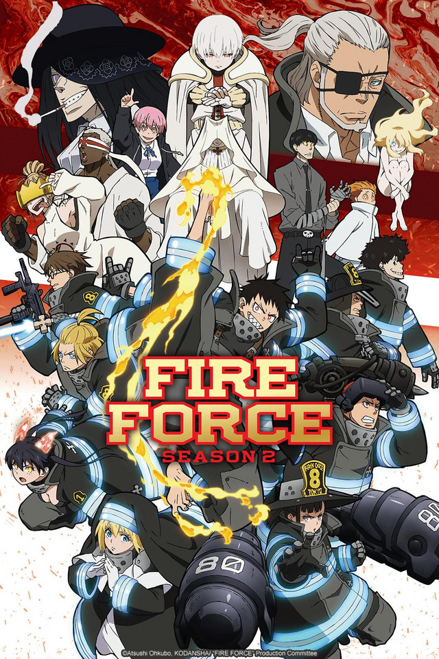 Fire Force Season 2 anime series cover art
