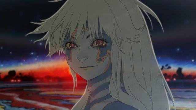 Some sort of alien moth girl from the short anime film Puparia