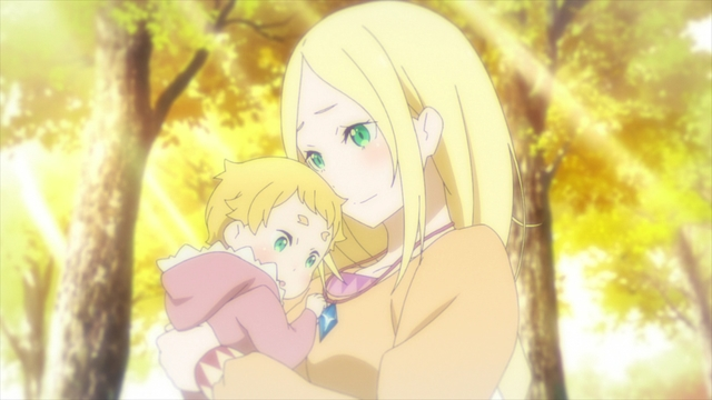 Baby Garfiel being held by his mother from the anime series Re:ZERO Season 2 Part 2