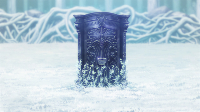 The seal in the forest from the anime series Re:ZERO Season 2