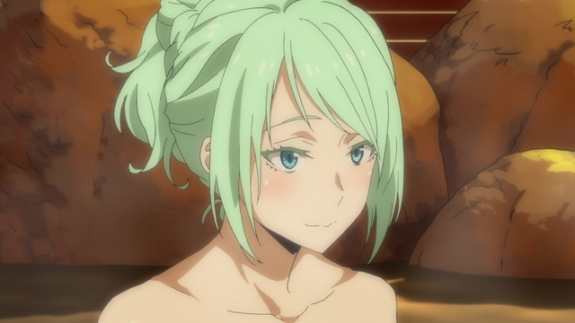 Myulan in the onsen from the anime series That Time I Got Reincarnated as a Slime Season 2