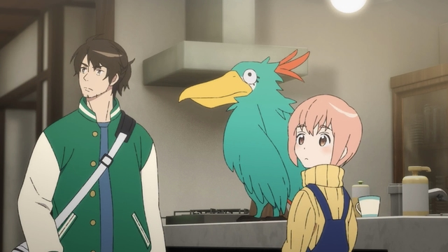 Joutarou, Rei, and Bigbird from the anime series Taiso Samurai