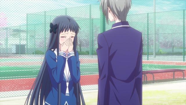 Motoko confessing to Yuki from the anime series Fruits Basket The Final Season