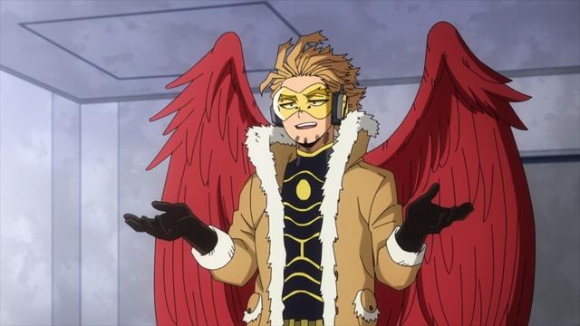Number 2 Hero: Hawks from the anime series My Hero Academia Season 5