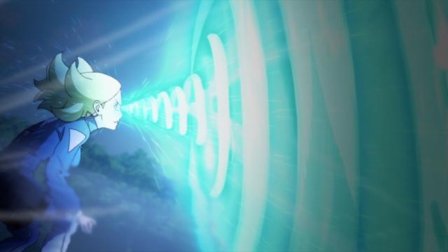 Delta absorbing Naruto's Massive Rasengan from the anime series Boruto: Naruto Next Generations