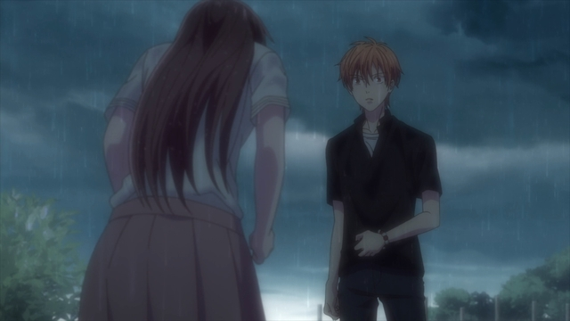 Tooru confessing to Kyou from the anime series Fruits Basket The Final Season