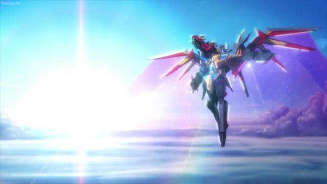 Super Dragon King Kaiser Gridknight from the anime series SSSS.Dynazenon