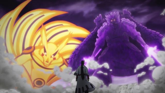 Naruto & Sasuke vs. Jigen from the anime series Boruto: Naruto Next Generations