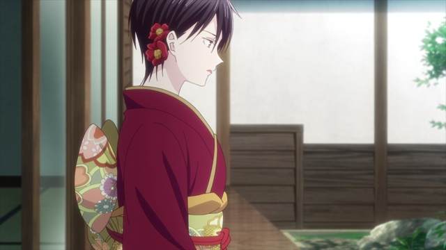 Akito wearing a kimono from the anime series Fruits Basket The Final Season