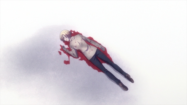 Kyouko dying on the sidewalk from the anime series Fruits Basket The Final Season