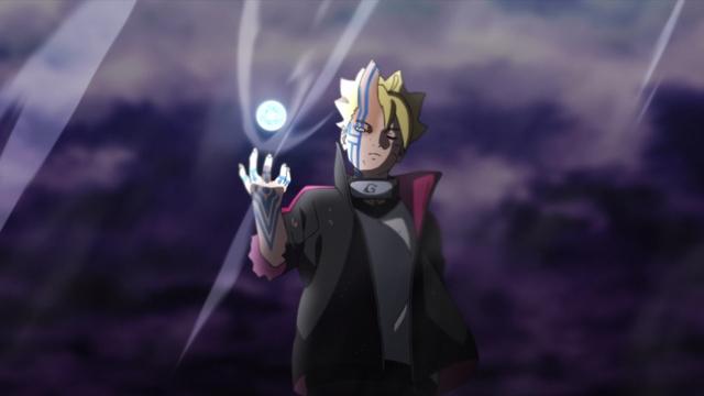 Boruto (Momoshiki) creating a Rasengan from the anime series Boruto: Naruto Next Generations