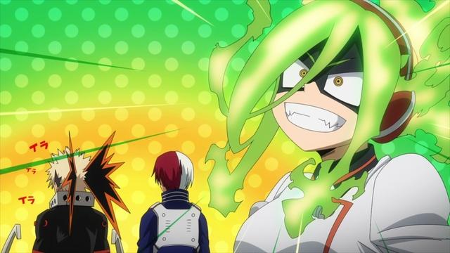 Pro Hero Burnin (and Bakugo and Todoroki) from the anime series My Hero Academia Season 5