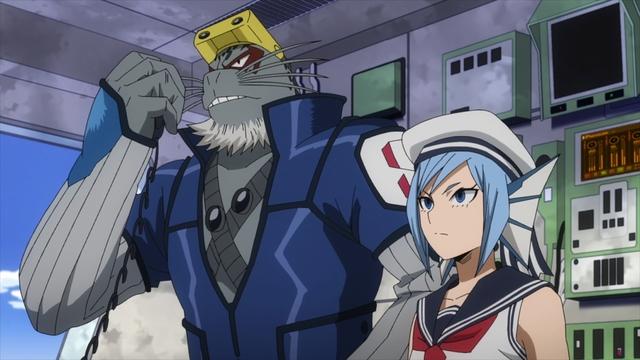 Selkie and Sirius from the anime series My Hero Academia Season 5