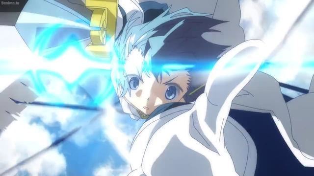 Sayaka fighting a witch from the anime series Magia Record: Puella Magi Madoka Magica Side Story 2nd Season