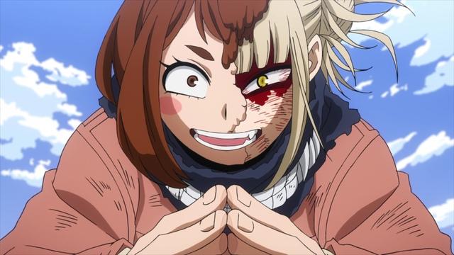 Himiko using Ochako's quirk from the anime series My Hero Academia Season 5