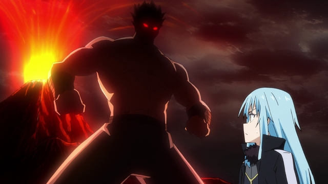 Rimuru imagining what demon lord Dagruel looks like from the anime series That Time I Got Reincarnated as a Slime Season 2 Part 2