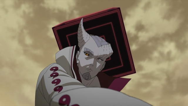 POV: Isshiki is about to crush you to death from the anime series Boruto: Naruto Next Generations