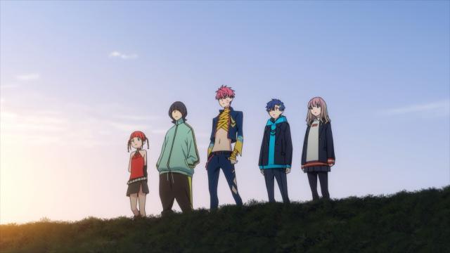 Chise, Koyomi, Gauma, Yomogi, and Yume from the anime series SSSS.Dynazenon