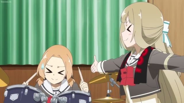 Sonoko and Fuu in a band from the anime series Yuki Yuna is a Hero: The Great Mankai Chapter