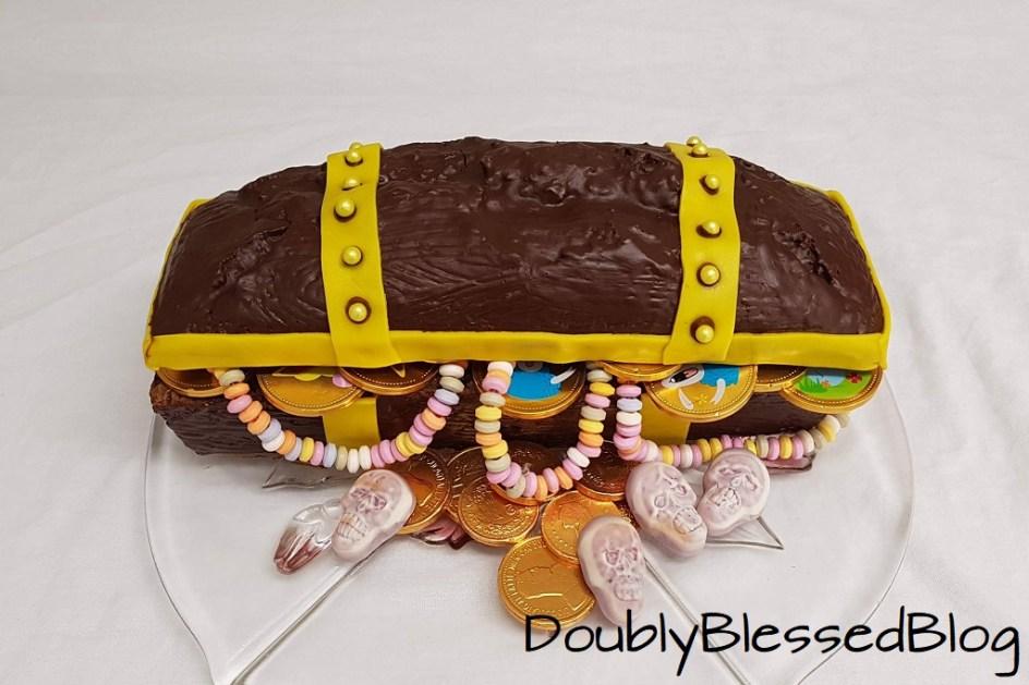 Geburtstagskuchen für Piraten: Schatztruhe