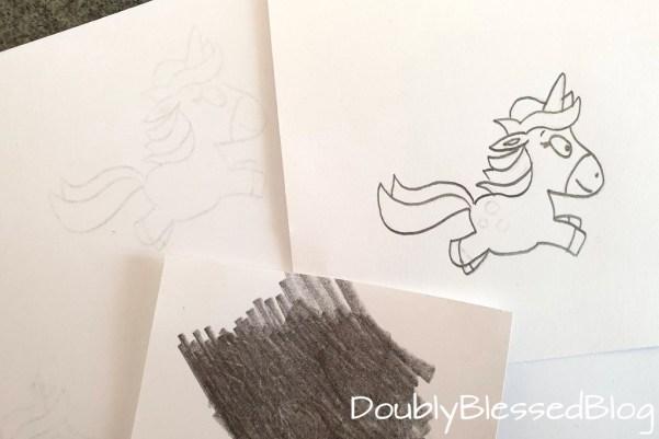 Durchpausen von Tablet auf Papier und Kopien erstellen