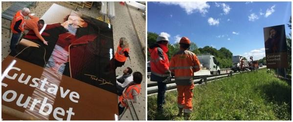 signalisation touristique Doubs sur l'autoroute A36