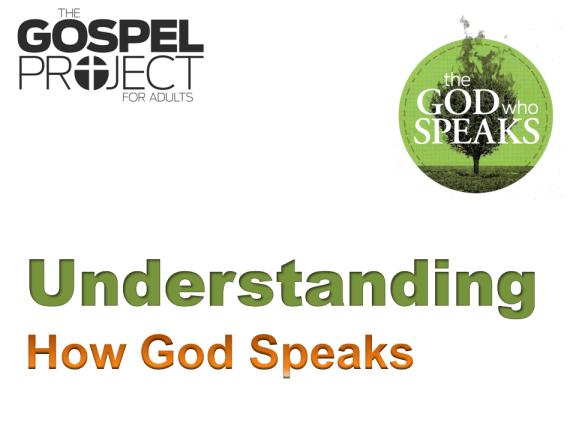 Session 12 - Understanding How God Speaks