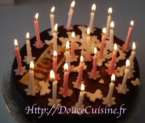 Gâteau au yaourt et son glaçage chocolat