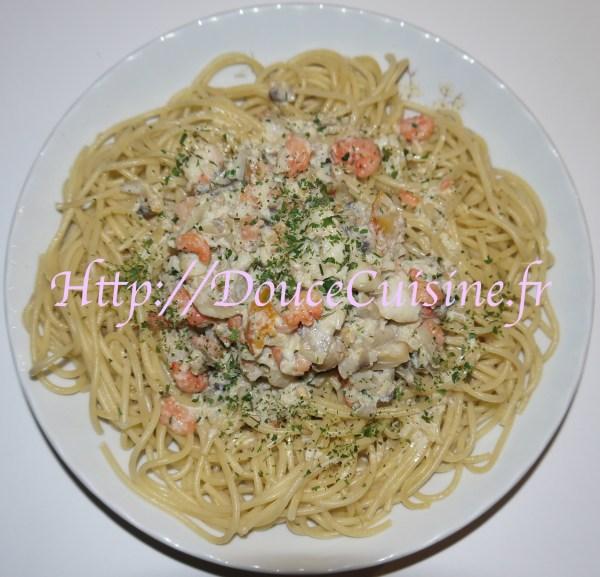Spaghettis aux poissons