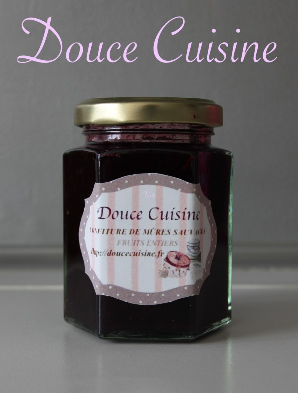 Confiture de Mûres Sauvage Fruits entiers