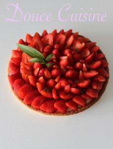 Tarte aux fraises et Verveine citronnelle