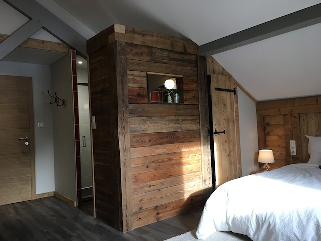 Salle de bain dans une cabane
