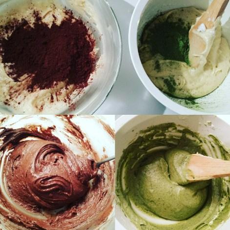 Gâteau marbré chocolat matcha 巧克力抹茶大理石蛋糕