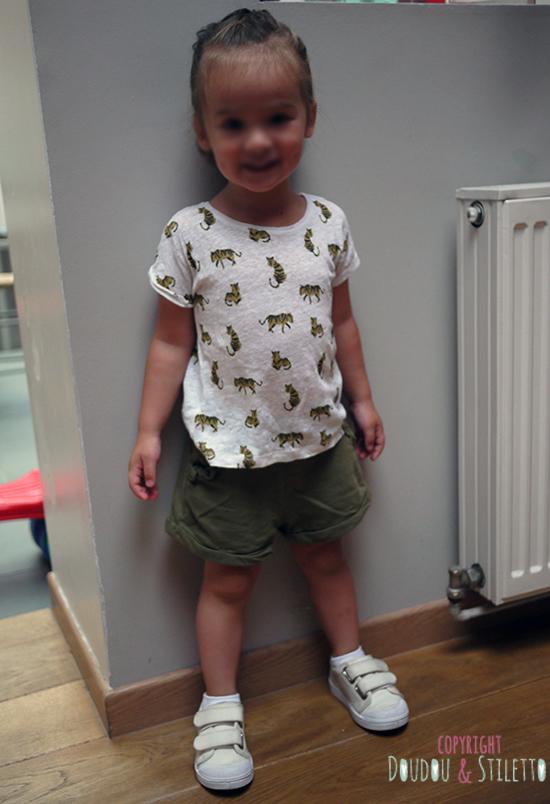 T-shirt et short Zara, chaussures 10is