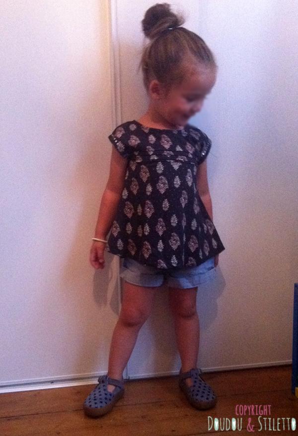 T-shirt Zara, short H&M, chaussures Pom d'Api