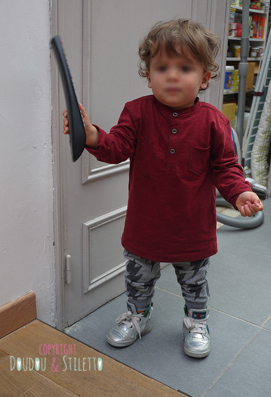 T-shirt et sarouel Zara, baskets b&co