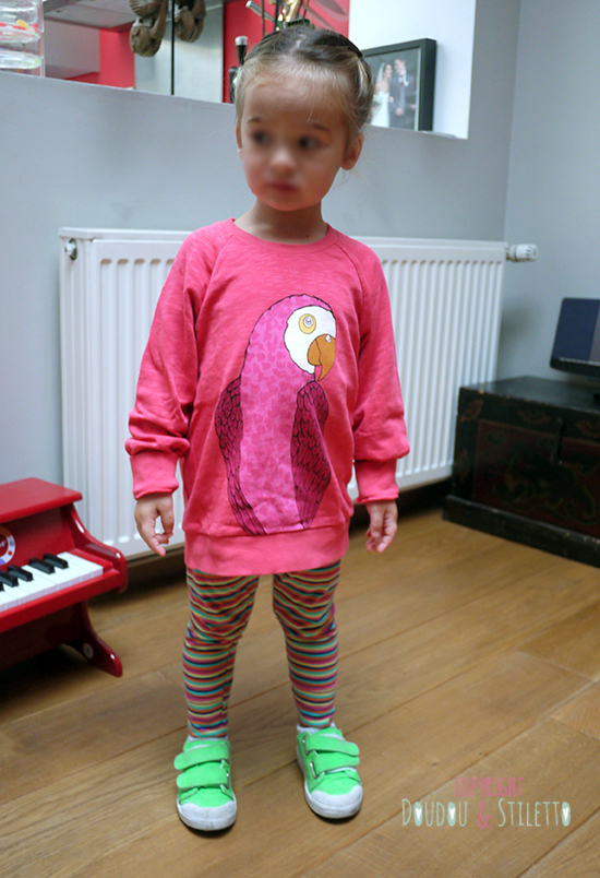 Sweat Mini Rodini, legging DPAM, chaussures 10is