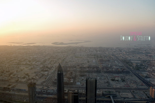 Vue du burj kalifa dubai