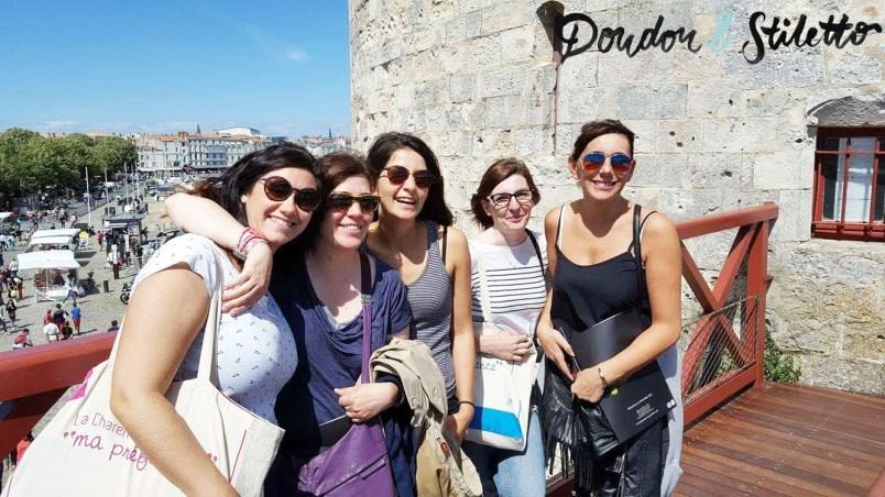 Céline (dans la peau d'une fille), Cécile (Paris Pages Blog), moi, Herveline (les tribulations de Maëline), Virginie (Swagday)